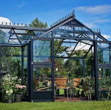 Orangery - Invernadero de vidrio templado, 15, 2 m²: Amazon.es: Jardín