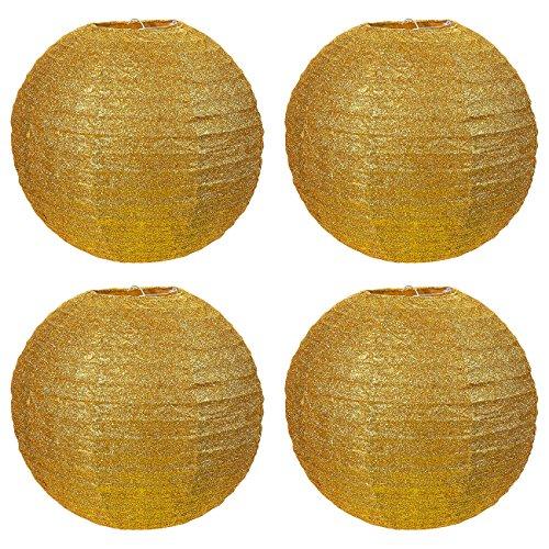 4-Piece-Paper-Lanterns-Gold-Foil-Hanging-Round-Lantern-Decorations-117-x-105-Inches