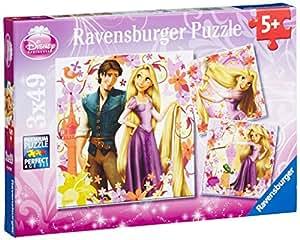Ravensburger 09298 - Puzzles clásicos con diseño de princesa Rapunzel (3 unidades, 39 piezas)