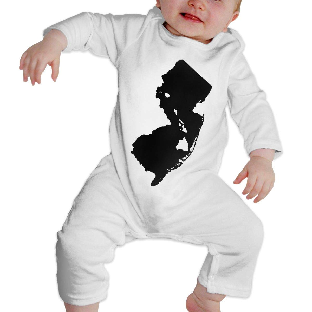 UGFGF-S3 New Jersey and Hawai Baby Boy Long Sleeve Bodysuit Organic Coverall