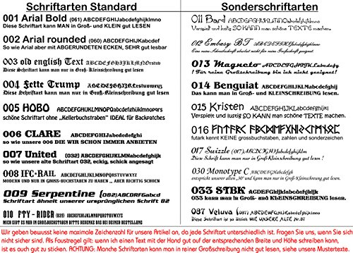 personalisiert Ausgestickter Aufn/äher Balkenkreuz mit Wunschtext ; viele Farben /& Gr/ö/ßen