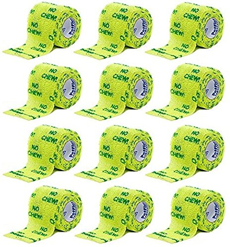 Petflex Tape - (12 Pack) Petflex No Chew Pet Bandages, 2 Inch X 5 Yards Per Pack