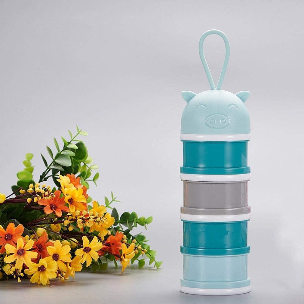 Unabh/ängiges Fach Tragbare S/äugling Milch-Box Stapelbare Milchdosierbox f/ür Reise Eink/äufe und Outdoor-Aktivit/äten cypressen Milch Pulver Spender Formel Milchpulver-Portionierer f/ür 4 Schicht