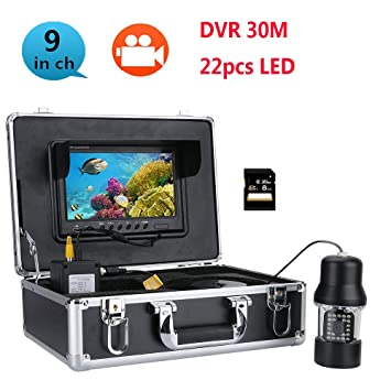 Surveillance Cameras 30m Underwater Fishing Video Camera Fish Finder 7 Inch Color Screen Waterproof 22 Leds 360 Degree Rotating Camera Security & Protection