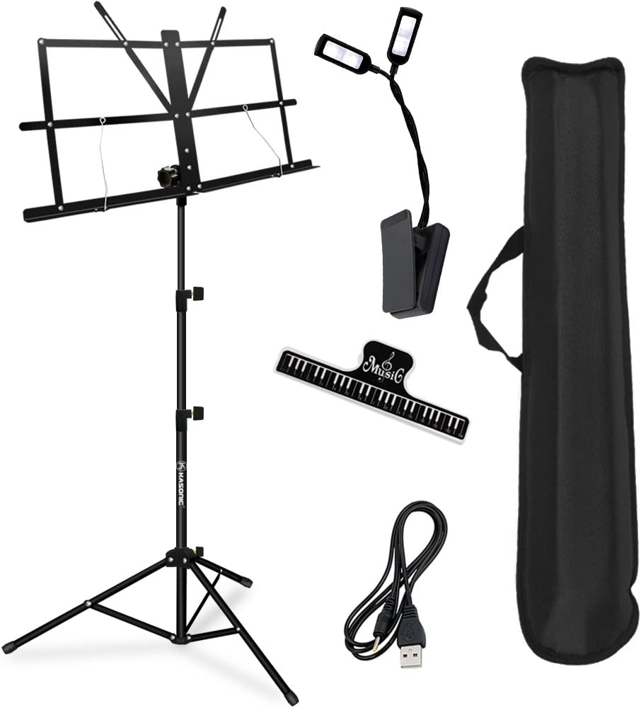 Music Stand, Kasonic Professional Collapsible Orchestra Portable and Lightweight