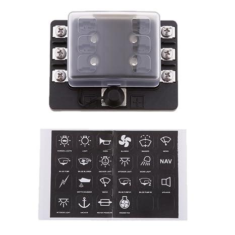 amazon com: baoblaze mini micro blade fuse box block holder circuit  protection for automotive: automotive