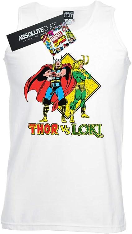 Marvel Hombre Thor Vs Loki Camiseta Sin Mangas: Amazon.es ...
