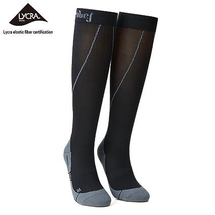 159fd0d03aa ZubeJ Compression Socks for Women   Men (20-30mmHg) Sports Knee High-
