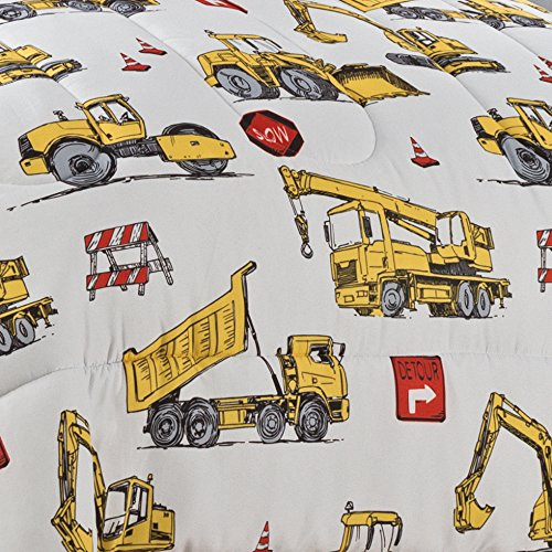 WAVERLY Kids Under Under Construction Reversible Bedding Collection, Full/Queen, Multicolor by WAVERLY (Image #2)