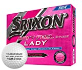 Srixon Soft Feel Lady Personalized Golf Balls - Add Your Own Text (12 Dozen) - Pink