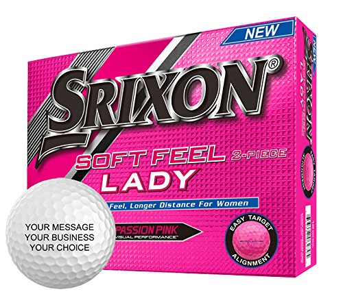 Srixon Soft Feel Lady Personalized Golf Balls - Add Your Own Text (1 Dozen) - -