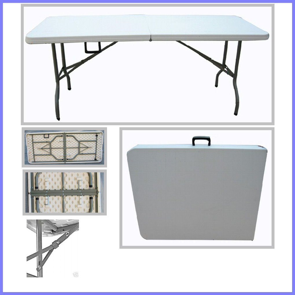 TJNS 6ft Plastic Folding Table 4 Banquet Camping Utility: Amazon.co.uk:  Kitchen U0026 Home
