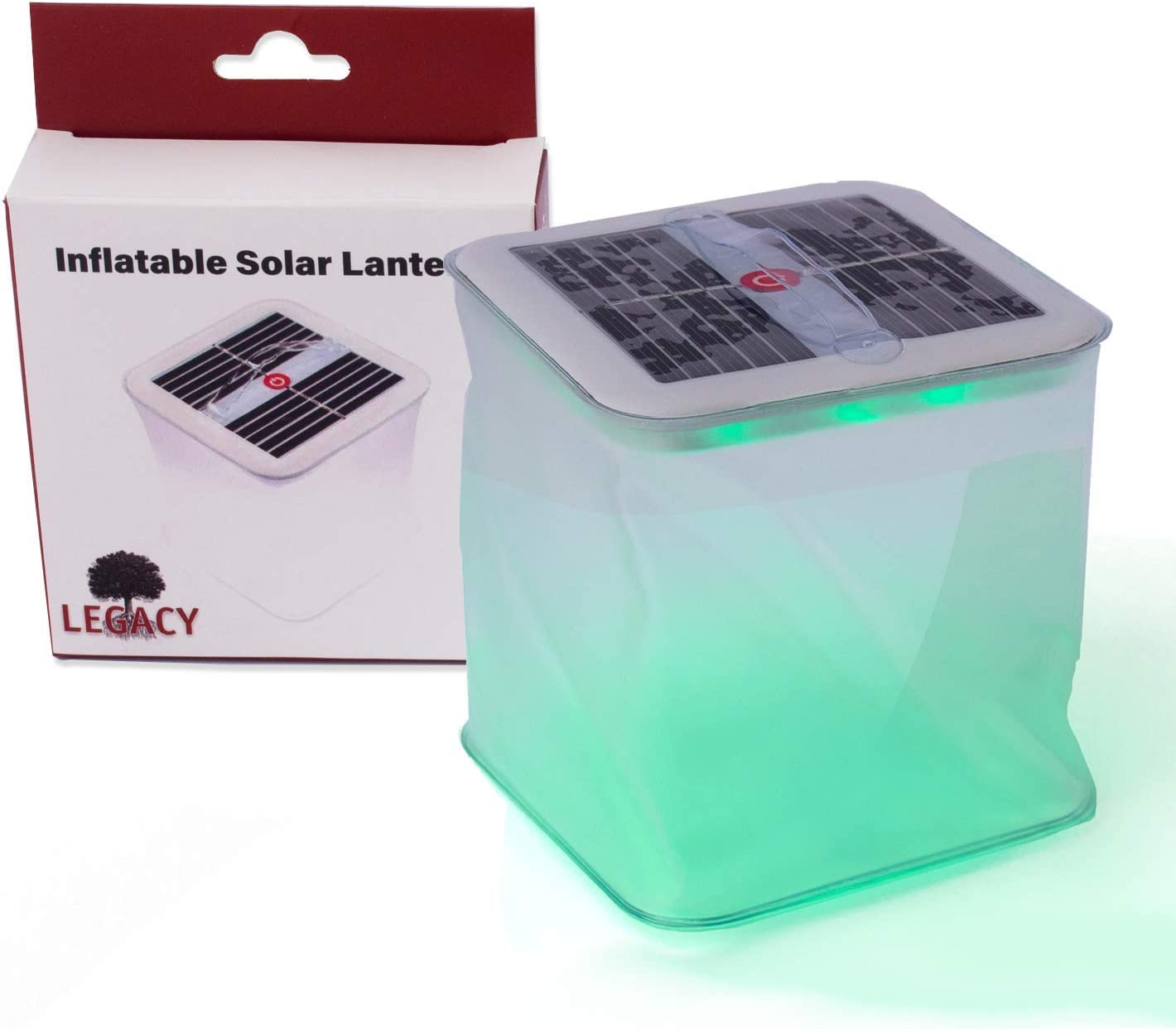Legacy Premium Food Storage Multicolor Solar Powered Inflatable LED Lantern - Portable, Compact, Fun - Decorative, Floating Pool & Party Lights - Up to 90 Lumens - 8 Hour Charge Night Light