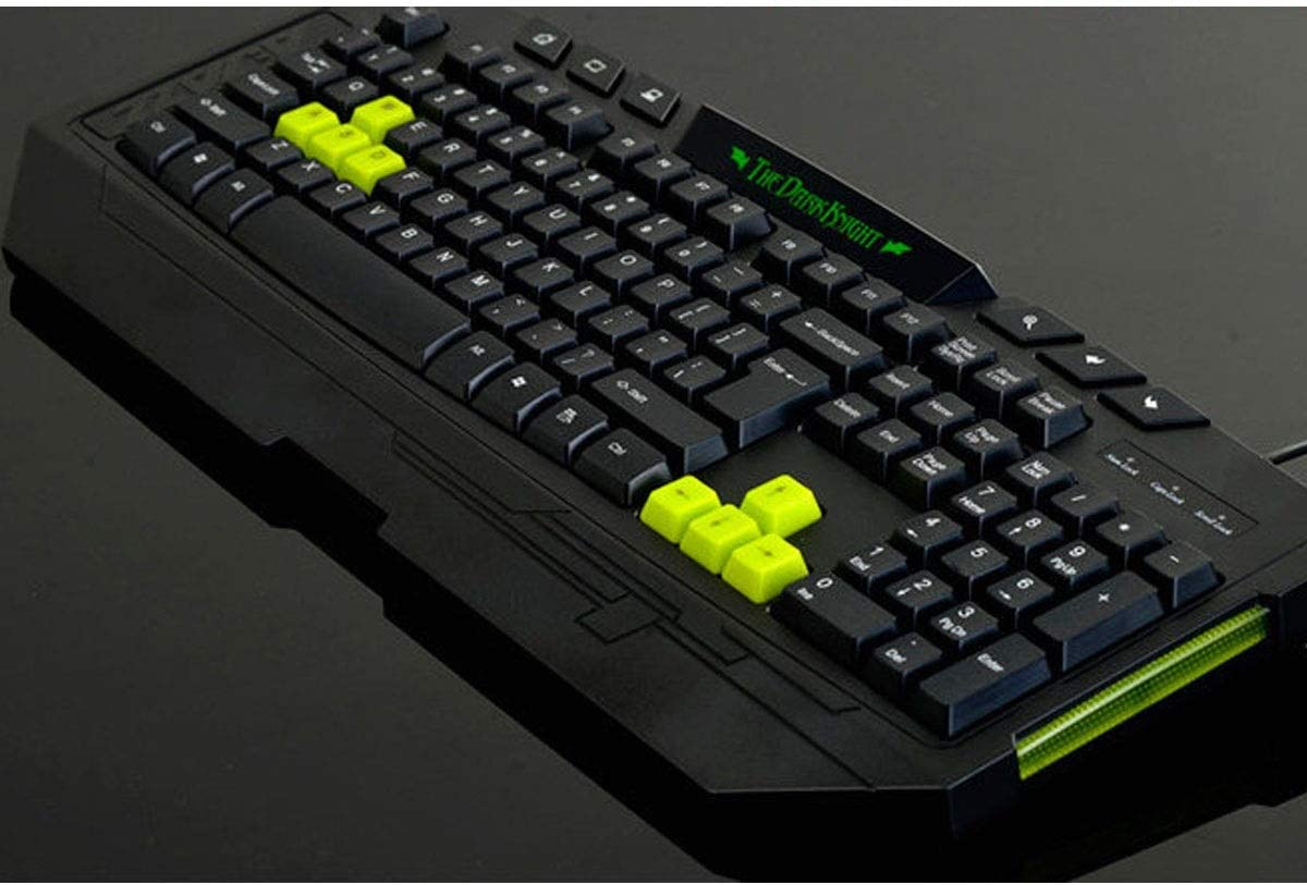 MUZIWENJU Multimedia Keyboard Color : Black Game Dedicated Laptop External Keyboard Office