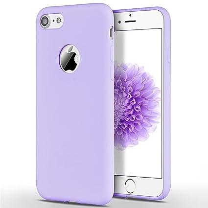 SpiritSun Funda iPhone 7/8, Soft Carcasa Diseño Mate Ultrafina TPU Bumper Suave Silicona Carcasa Ultra Delgado y Ligero Goma Flexible Anti Golpes ...