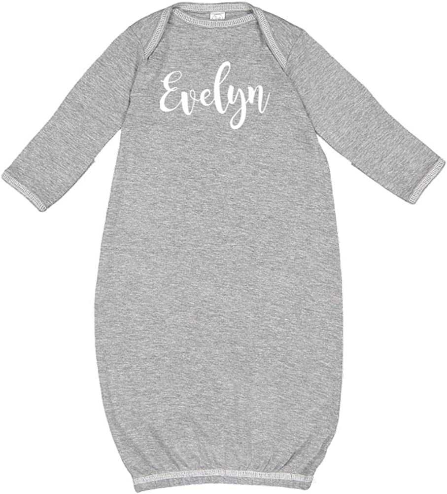 Mashed Clothing Evelyn Personalized Name Baby Cotton Sleeper Gown