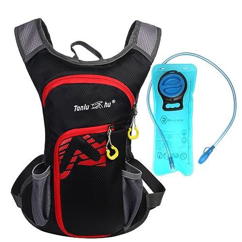 Sac d'hydratation 12L avec poche à eau de 2L Rullaco - Sac étanche pour le camping, la randonnée, la course, le cyclisme, le trekking - Unisexe