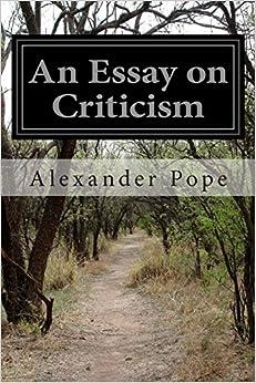 Book An Essay on Criticism