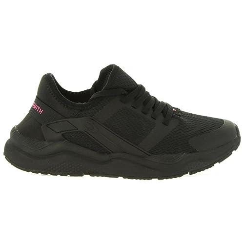 Zapatillas Deporte de Mujer JOHN SMITH Rival W Negro-Fucsia: Amazon.es: Zapatos y complementos