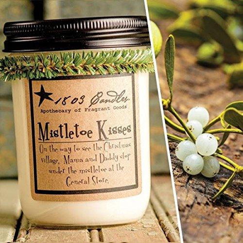 1803 Candles - 14 oz. Jar Soy Candles - (Mistletoe Kisses)