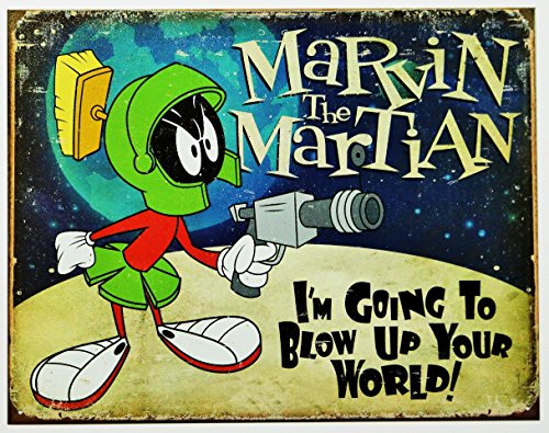 Marvin the Martian Tin Sign 16 x 13in