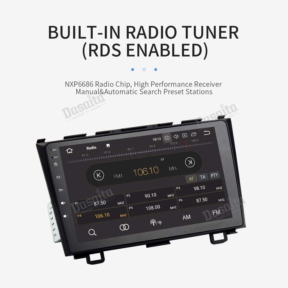USB FM//Am Mandos de Volante Dasaita 9 Android 9.0 Autoradio Bluetooth Coche 4G RAM 32G ROM para Toyota RAV4 RAV 4 2014 2015 2016 2017 2018 1 DIN Radio GPS Coche Soporte WiFi Dab