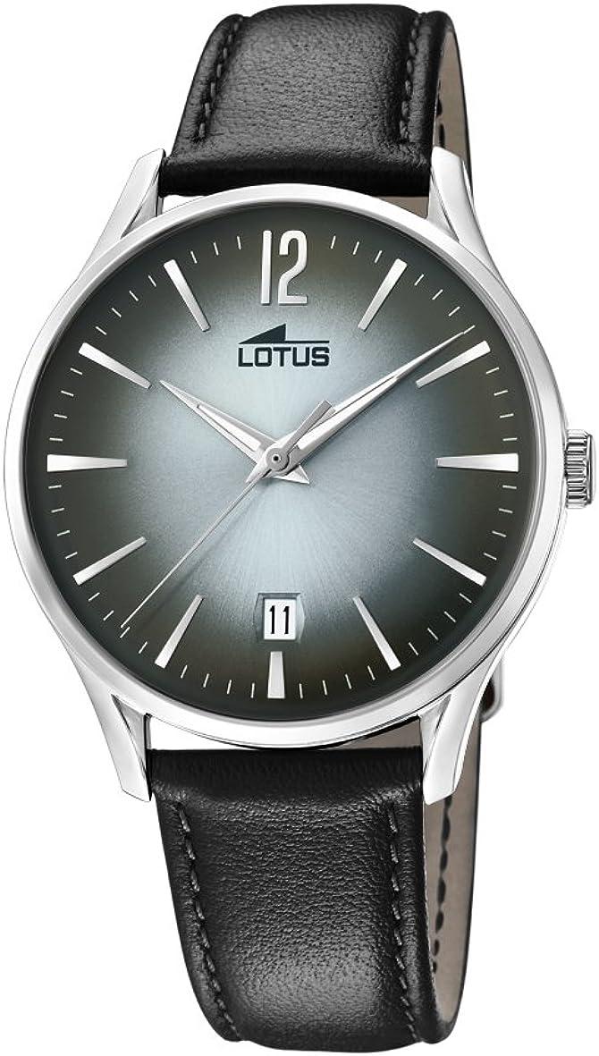 Lotus Watches Reloj Análogo clásico para Hombre de Cuarzo con Correa en Cuero 18402/4
