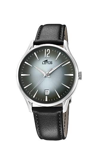 Lotus Watches Reloj Análogo clásico para Hombre de Cuarzo con Correa en Cuero 18402/4: Amazon.es: Relojes