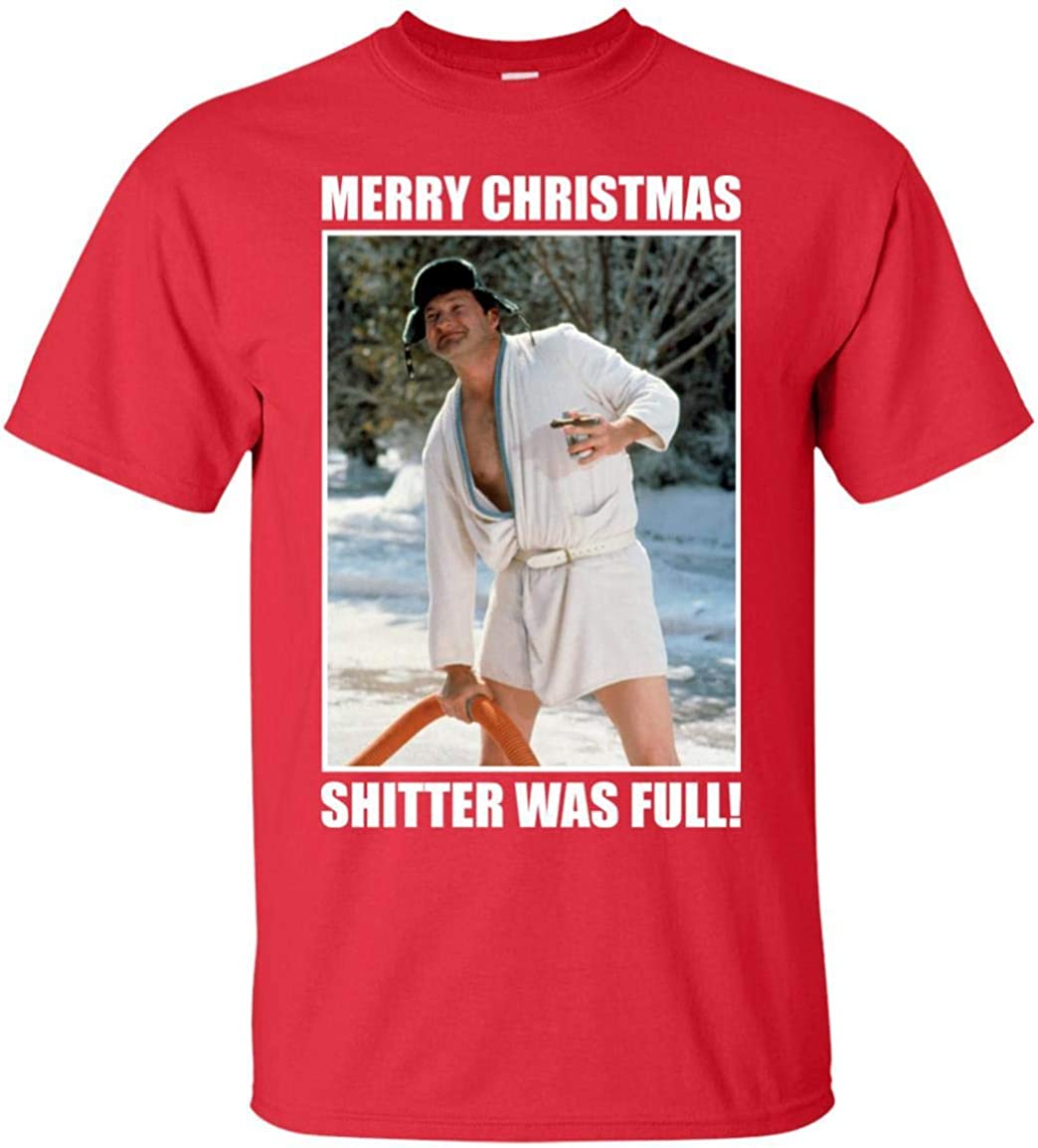 National Lampoons Vacation Merry Christmas Shitter Was Full T Shirt Long Sleeve Sweatshirt Hoodie for Men and Women