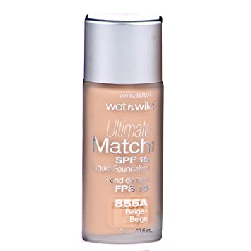 Amazon.com : Wet N Wild Ultimate Match Beige #855A : Foundation Makeup : Beauty