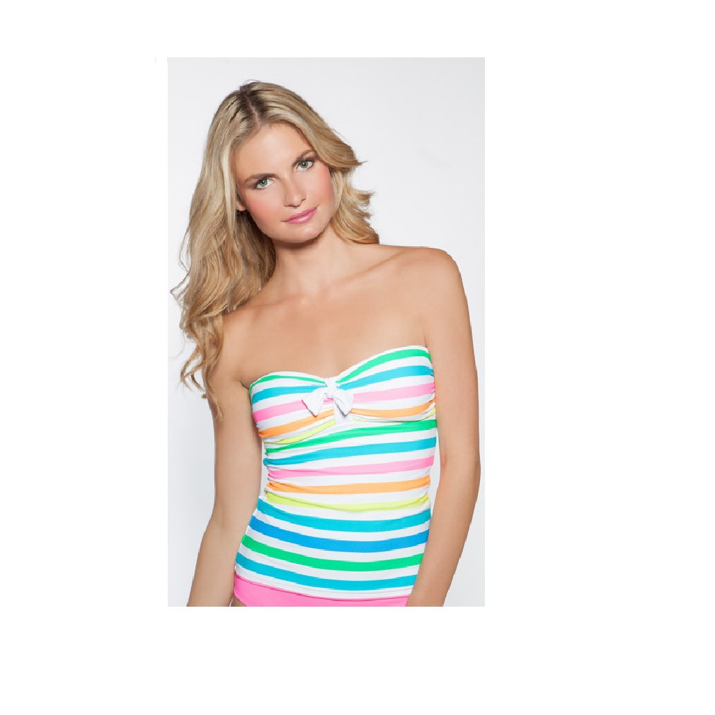 COCO RAVE Womens Tankini Top Swimsuit with Adjustable Shoulder Straps and Hook Back Closure