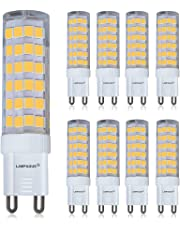 LAMPAOUS G9 Light Bulb 7W 4000K Daylight White Bulbs 60W Halogen Equivalent g9 Bipi Base Lamp Non-Dimmable Lighting for Crystal Chandeliers,Modern Pendant Flush Mount Ceiling Light Fixtures,8 Pack