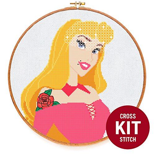 Aurora Princess Cross Stitch Kit by (Tattoo Thread Stitch)