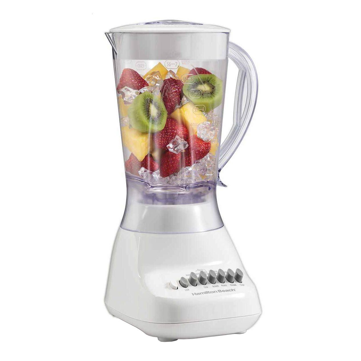 HAMILTON BEACH BRANDS INC 50166 10SPD 400W White Smoothie Blender 56-Ounce