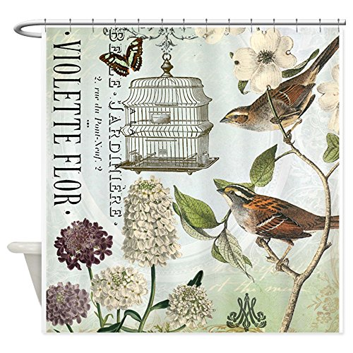 CafePress Vintage Birdcage Decorative Curtain
