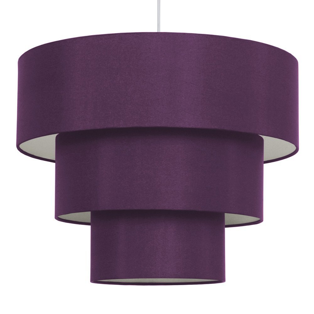 3 tier purple faux silk ceiling shade amazon kitchen home mozeypictures Images