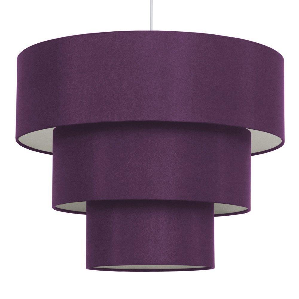 3 tier purple faux silk ceiling shade amazon kitchen home aloadofball Choice Image