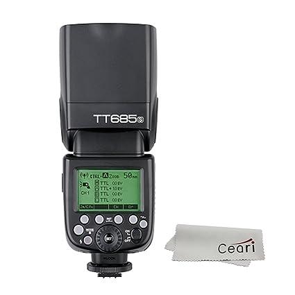 Godox TT685S TTL 2.4G Wireless Camera Flash Light Mater&Slave Speedlite for Sony A77 II A7R II A7R A58 A99 A6000 Digital Camera Shoe Mount Flashes at amazon