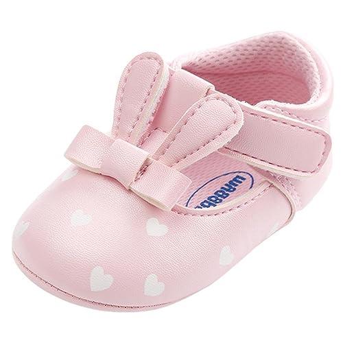 0411b9bf8c8fe Amazon.com: Baby Sneakers Girls, Amiley Cute Rabbit Ears Crib Anti ...
