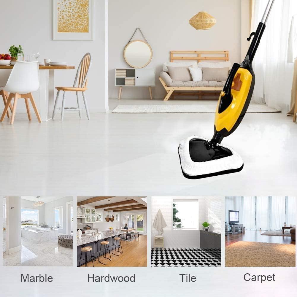 Almohadillas de fregona de vapor de DWTECH universales de microfibra almohadillas de repuesto lavables compatibles con Vax S1 S2 X5 H2O H20 limpiador de vapor con pa/ño de limpieza
