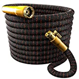 TBI Pro [Upgraded 2019] Garden Hose Expandable & Flexible - Superior 3750D Fabric | 4-Layers Flex Latex | Extra-Strong Brass Connectors with Pocket Protectors (50FT Hose Only)