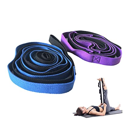 HOONSO Stretch Out Strap Therapy Straps with Loops Exercise Bands Stretching Strap for Physical Therapy, Yoga Strap, Athletic Band