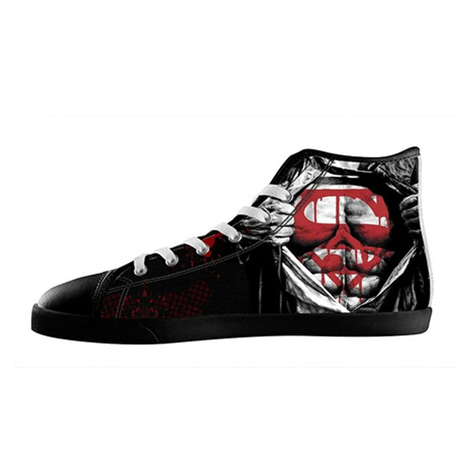 custom women superman canvas shoes high top sneakers 60
