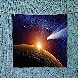 swim towel Comet Tail Approaching Planet Mars Star Cosmos Dark Solar System Super Soft W13.8 x W13.8 INCH