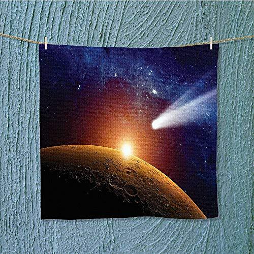 swim towel Comet Tail Approaching Planet Mars Star Cosmos Dark Solar System Super Soft W13.8 x W13.8 INCH by SeptSonne