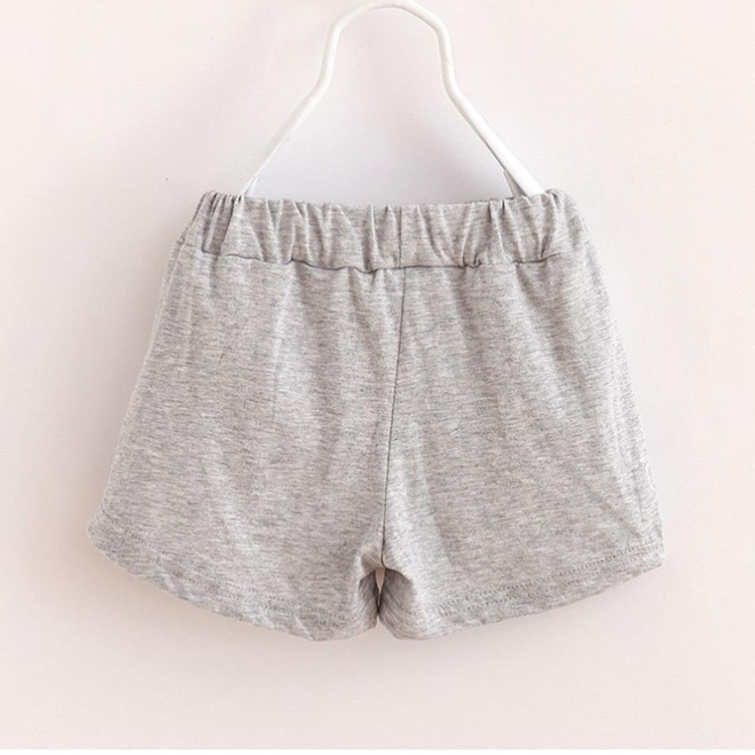 Kimanli Summer Childrens Cotton Shorts Boy and Girl Baby Simple Fashion Pants
