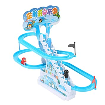 Haktoys Arctic Fun Playful And Educational Penguin Slide Race Set Improved Ver Battery Operated Animals