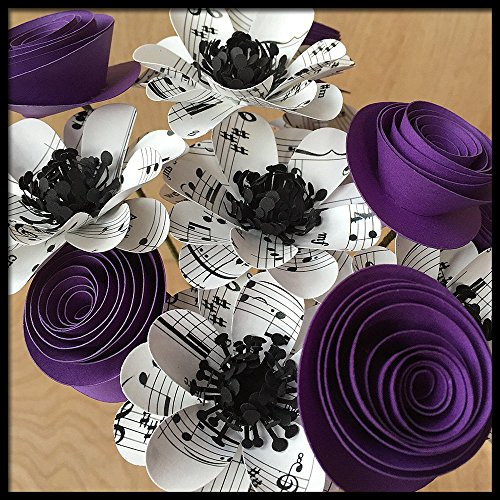 Sheet Music Flowers, Mixed Bouquet of Handmade Paper Flowers