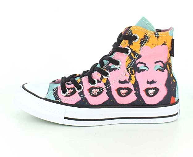 7bc2ab55cc84 Converse Unisex Chuck Taylor All Star Andy Warhol Marilyn Monroe High Top  Lichen Orchid Smoke White Sneaker - 4 Men - 6 Women  Buy Online at Low  Prices in ...