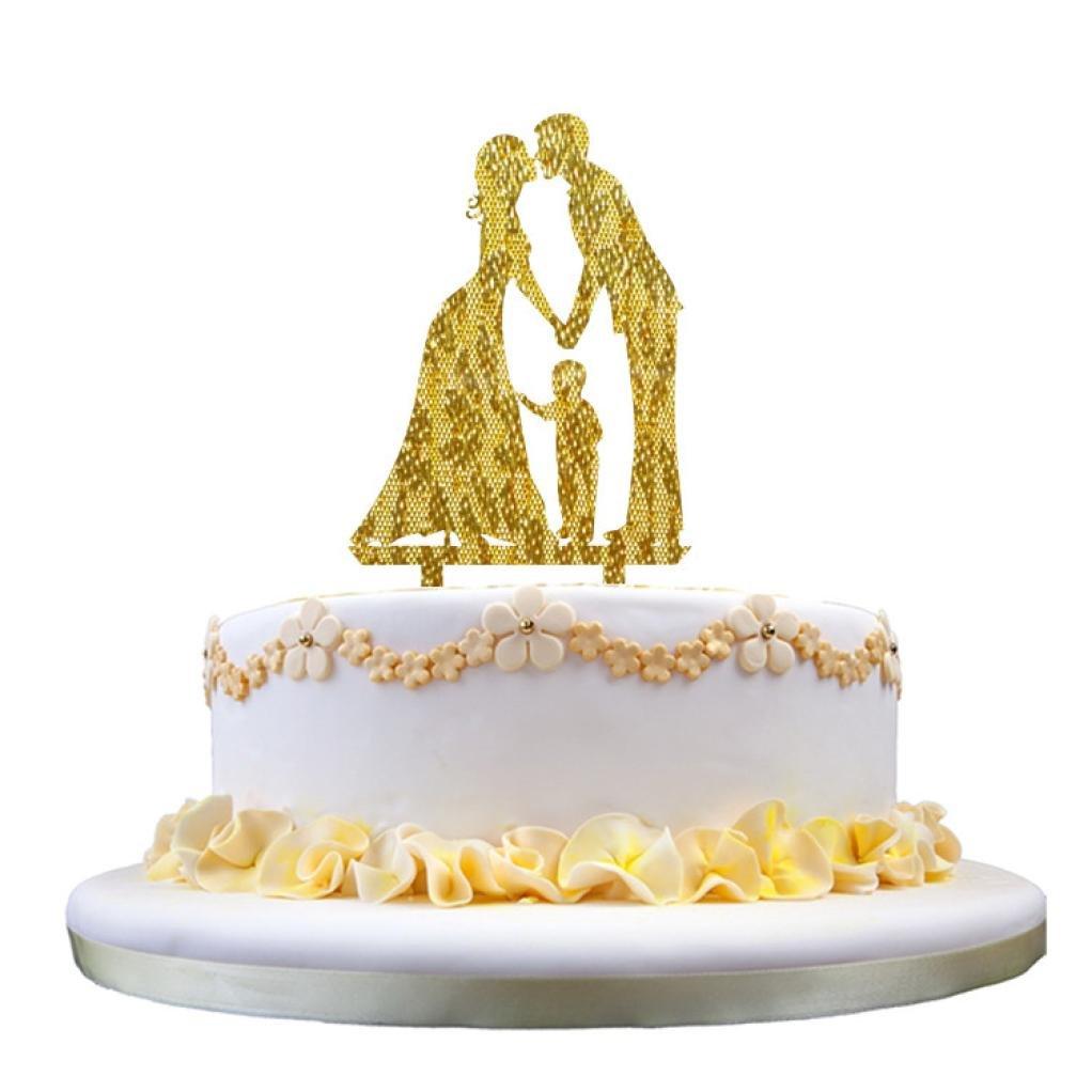 Amazon.com: Acrylic Cake Topper Insert Card Love Groom and Bride ...